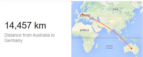Map AU to DE