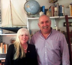 Grace Gawler and Melbourne University Researcher, Martin Ashdown Nov 2014