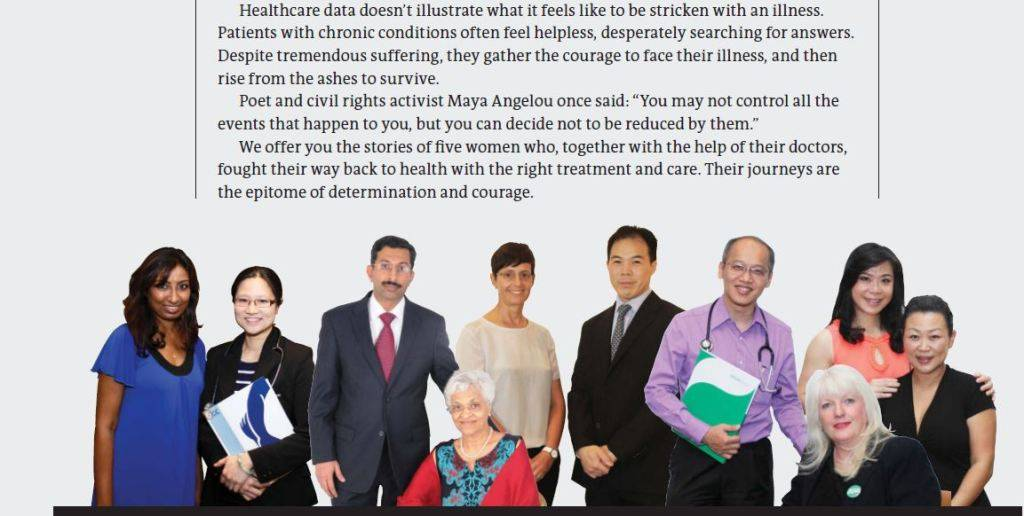 Picture from Global Health and Travel article. Grace is with Dr Lim Jit Fong, colo-rectal surgeon from both her surgeries, 2009 and 2014.