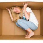 Woman in box